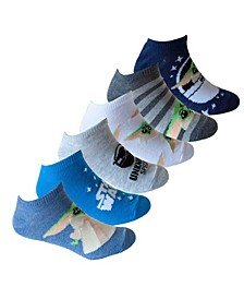 Little and Big Boy's No Show Socks, Pack of 6