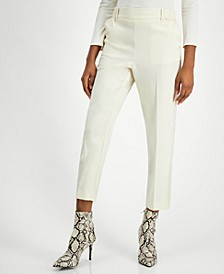 High-Rise Pull-On Slim-Leg Ankle Pants, Created for Macy's