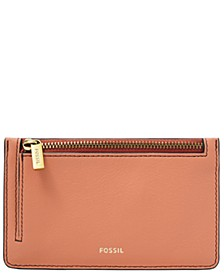 Women's Logan Zip Leather Card Case