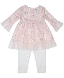 Blueberri Boulevard Baby Girls Lace Overlay Dress Set