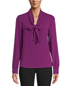 Tie-Neck Bow Blouse, Created for Macy's