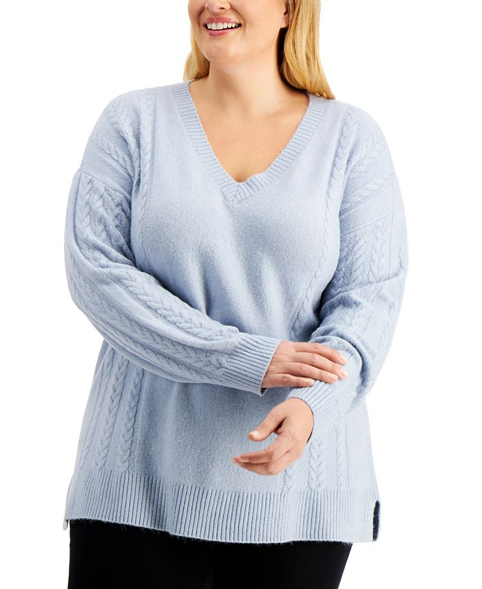 Calvin Klein - Plus Size Cable-Knit Sweater