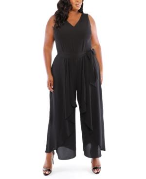 70s Jumpsuit | Disco Jumpsuits, Sequin Rompers London Times Plus Size Split-Leg Jumpsuit $68.99 AT vintagedancer.com