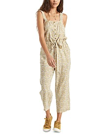 Juniors' Printed Jumpsuit