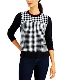 Petite Houndstooth Sweater, Created for Macy's