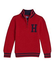 Little Boys Dave Logo 1/4 Zip Sweater