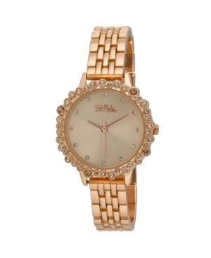 Women's Pink Alloy Bracelet Crystal Bezel Watch