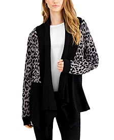 Printed Waterfall Cardigan