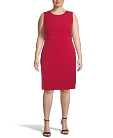 Plus Size Tab-Waist Sheath Dress