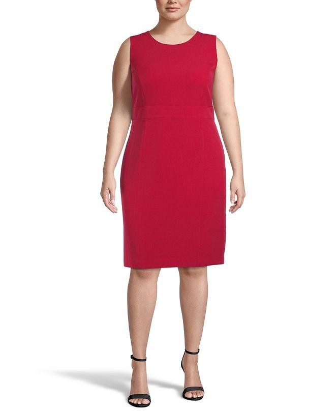 Kasper Plus Size Tab-Waist Sheath Dress