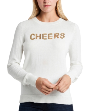 1.state Embellished Cheers Sweater In Antique White