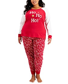 Matching Plus Size Ornament-Print Family Pajama Set, Created for Macy's