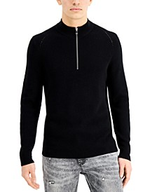 INC Men's Howie Quarter-Zip Sweater, Created for Macy's