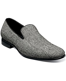 Men's Stanza Plaid Plain-Toe Slip-Ons