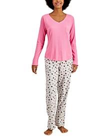 Ribbed Hacci Pajama Top & Pajama Pants Separate, Created for Macy's