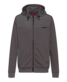 Men's Donley Zip Up Hoodie with Hu93 Logo on Chest