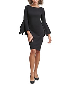 Split-Sleeve Sheath Dress