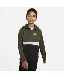Big Boys Sportswear Club 1/2-Zip Hoodie
