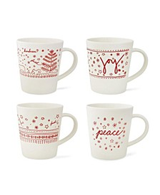 Crafted By Royal Doulton® Holiday Accent Mug Set/4