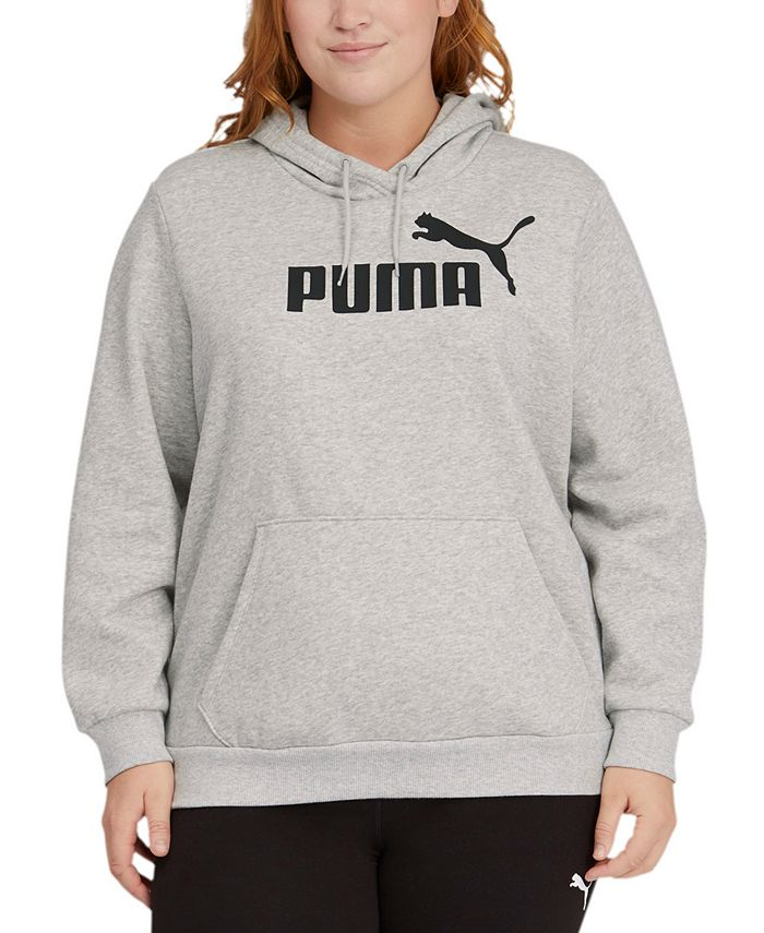 Puma - Plus Size Fleece Logo Hooded Sweatshirt