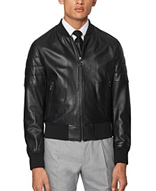 BOSS Men's Gipon Regular-Fit Bomber Jacket