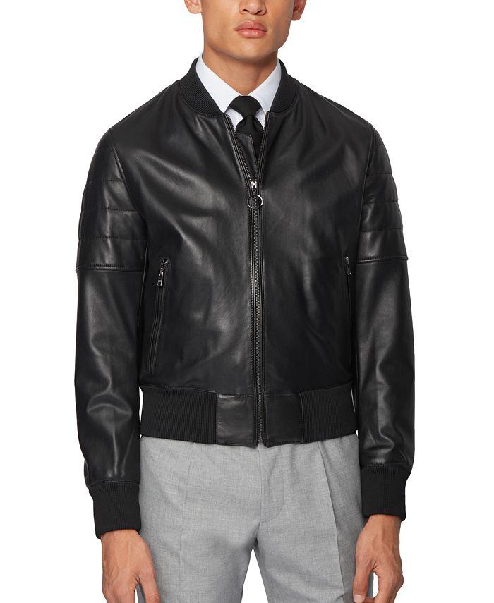 Hugo Boss - Men's Gipon Regular-Fit Bomber Jacket