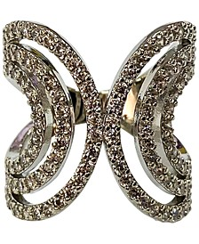 INC Silver-Tone Crystal Multi-Row Ring, Created for Macy's