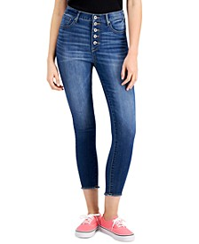 Juniors' Cotton Button-Fly High-Rise Skinny Jeans