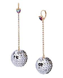 Sequin Ball Linear Earrings