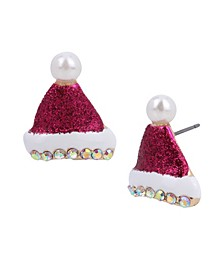 Festive Santa Hat Stud Earrings