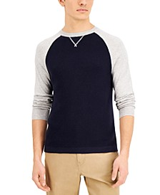 Men's Multi-Stitch Raglan Pullover Sweater