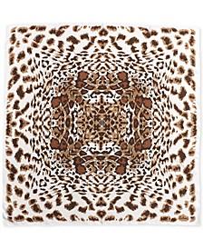 Silk Leopard-Print Square Scarf