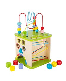 """Small Foot Wooden Toys 5"""" 1 Activity Cube and Play Center"""