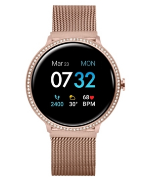 Sport 3 Women's Special Edition Touchscreen Smartwatch: Rose Gold Crystal Case with Rose Gold Mesh Strap 45mm