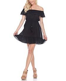 Women's Smocked Off-The-Shoulder Dress