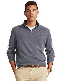 Men's  Big & Tall Jersey Quarter-Zip Pullover