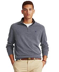 Polo Ralph Lauren Men's  Big & Tall Jersey Quarter-Zip Pullover