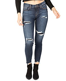 Elyse Mid-Rise Ripped Skinny Jeans