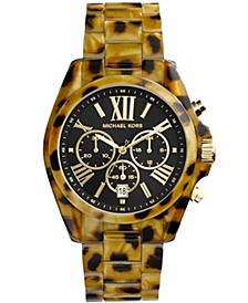 Women's Bradshaw Cheetah Acetate Bracelet Watch 43mm