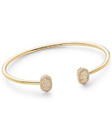 Cubic Zirconia & Drusy Stone Cuff Bracelet