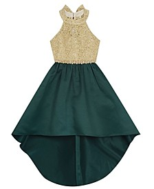 Big Girl Gold Cord Bodice To Hi-Lo Skirt