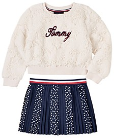 Toddler Girls 2 Piece Top and Skirt Set