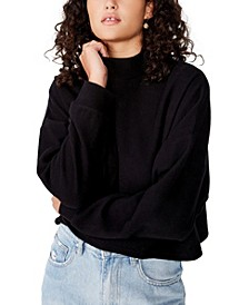 Women's Brina Brushed Rib Mock Neck Sweatshirt