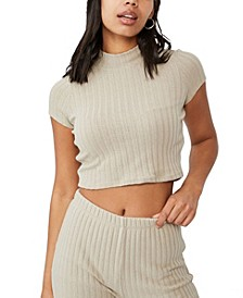 Women's Renee Mock Neck Short Sleeve Top