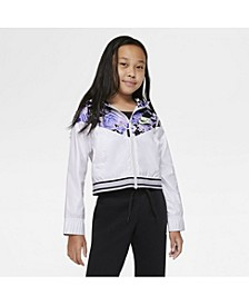 Sportswear Wind Runner Big Girl's Graphic Jacket