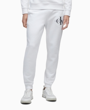 Calvin Klein Men's Monogram Logo Drawstring Fleece Joggers