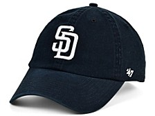San Diego Padres Black White CLEAN UP Cap