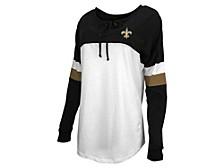 New Orleans Saints Women's Lace Up Long Sleeve T-Shirt
