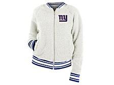 Women's New York Giants Sherpa Bomber Jacket