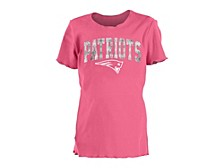 Youth Girls' New England Patriots Flip Sequin T-Shirt